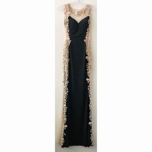 Black with Gold Lace Side Panel